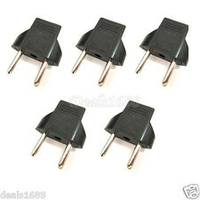 5Pcs US/USA to European EU Travel AC Power Charger Adapter Plug Outlet Converter