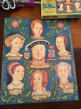 King Henry VIII 8th & His Six Wives 400 PC Jigsaw Puzzle Vintage 1972 England