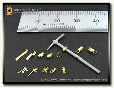 Griffon Model 1/35 German AFV Tool Holders for all Early & Late Type kits