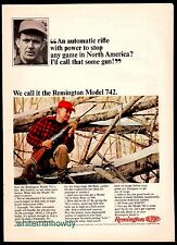 1965 REMINGTON Model 742 Rifle AD Vintage Hunting Gun Advertising