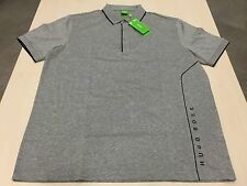 "Men's Hugo Boss Green Label ""PADDY 4"" POLO Shirt,COLOR-GRAY,SIZE-XL."