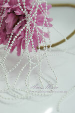 1.5 Meter 3mm White Pearl Garland String for Wedding/Bridal/Corsages/Decorations