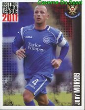 452 MORRIS ENGLAND ST JOHNSTONE.FC STICKER SCOTTISH PREMIER LEAGUE 2011 PANINI