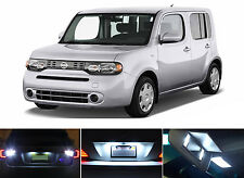 White LED Package - License Plate + Reverse for Nissan Cube (4 Pcs)
