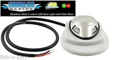 STAINLESS STEEL MINI LED NAVIGATION BOW COMBO LIGHT RED-GREEN BOAT SL MARINE