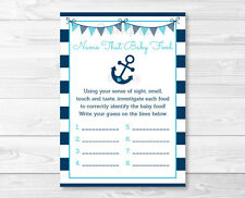 Nautical Anchor Name That Baby Food Baby Shower Game Printable