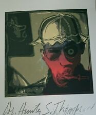 Ralph Steadman Hunter S Thompson Screenprint Fear and Loathing Las Vegas gonzo