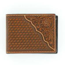 Nocona Western Mens Wallet Leather Pro Bifold Tooled Saddle N5446708