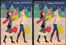 Luxury Clintons 2 X Christmas Card  Shopping NEW Happy Christmas Cards