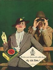 1934 BIG Vintage Lucky Strike Cigarette Co. Sports Jacket Fashion Photo Print Ad