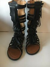 New Fashion Gladiator Sandals Fringe Shoe Kid Youth Girls' Size 1