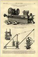 1888 Crank Sweep Cutting Machine Wilkinson Keighley Butter Derrick Crane