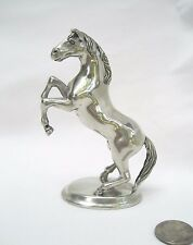 "Vintage Pewter Horse Figurine Statue Metal Figure Base Collectible Animal 3.5"" H"