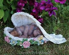 Adorable! LABRADORE LAB DOG RESTING IN ANGEL WINGS R.I.P Memorial Garden Statue