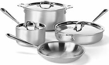 NEW All-Clad 700393 MC2 Professional Master Chef 2 Stainless Cookware Set 7 pc