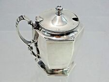SURERB QUALITY ANTIQUE STERLING SILVER MUSTARD POT HOWARD CO. NEW YORK PAT. 1893