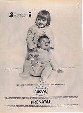 PUBLICITE ADVERTISING 1965 035 PRENATAL layettes et vêtements pour enfant