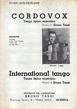 SC18 SPARTITO Cordovox - International tango Bruno Tassi