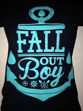FALLOUT BOY ANCHOR LOGO LADIES FITTED T- SHIRT SMALL PUNK ROCK  VTG pete wentz