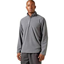 NEW $50 Men REEBOK Micro Fleece 1/4 Zip Delta Canton Training Jacket GRAY LARGE