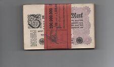 Inflation: 100 x 2 Millionen Mark 1923, Ro. 103, Originalbanderole aus Minden