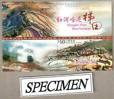 China Hong Kong 2015 World Heritage Series 4 Honghe Hani Rice Terraces Specimen