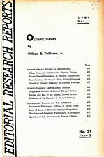 1964 OLYMPIC GAMES EDITORIAL RESEARCH REPORTS