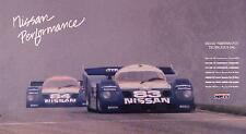 Factory Nissan Performance NPTI - 1989-1991 Champions Car Poster VERY Rare! WOW