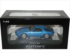 PORSCHE 928 BLUE DIECAST CAR MODEL 1/43 BY AUTOART 57811