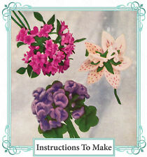 Vintage sewing pattern-How to make pretty 1940s flower corsage corsages,brooches