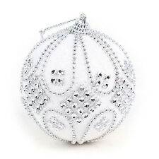 Christmas Rhinestone Glitter Baubles Balls Xmas Tree Ornament Decoration 8CM  LD