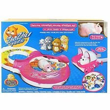 New Zhu Zhu Pets Deluxe Hamster House Starter Set with Jilly - Stroller and Baby