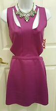 New Sexy,Cut out Waist,Back, Magenta/Purple Clubwear Party Pencil Dress Large