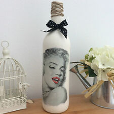 Vintage Retro Marilyn Monroe Bottle Candle holder with polka dot bow (82)