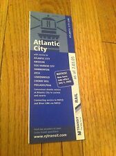2005 New Jersey Transit Atlantic City NJ RAIL Schedule Timetable Brochure Patco