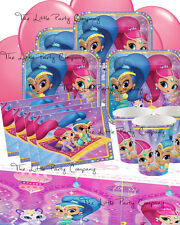 Shimmer and Shine Party Girls Party Set For 16 Tableware & Decorations