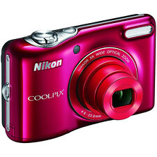 Nikon COOLPIX L32 20.1MP 720P HD Video w/ 5X Zoom Digital Camera (Red)