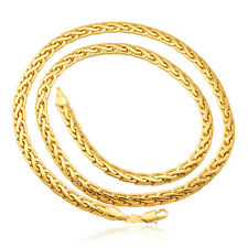 Men's Classic Jewelry 18K Gold Plated Chunky Chain Necklace 6MM 22''