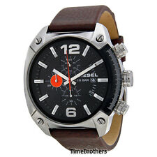 NEW DIESEL WATCH MEN * Chronograph * Brown Leather Band * DZ4204 * MSRP $160