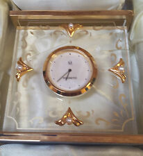 MIKIMOTO Table Clock with 4 Pearls NEW IN BOX!!!