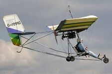 Eipper Quicksilver Hang Gliding Ultralight Aircraft Wood Model Replica Small