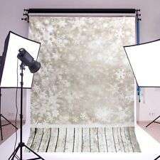 3x5FT Christmas Fantasy Snowflake Backdrop Studio Vinyl Photography Background