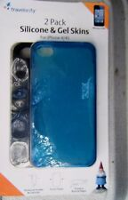 iphone 4/4S Silicone & Gel Skins Teal Blue  2 Pk Travelocity Rubberized Exterior