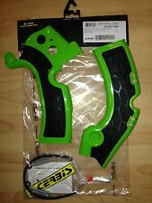 KAWASAKI  KXF 450  KX450F  2009-2017  ACERBIS GREEN & BLACK FRAME GUARDS