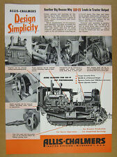 1950 Allis-Chalmers HD-19 HD19 Tractor cutaway diagram photos vintage print Ad