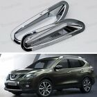 Chrome Rear Bumper Fog Lamp Light Cover Trim for Nissan X-Trail Rouge 2014 2015