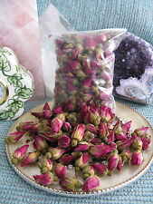 NEW NATURAL PETITE MINIATURE DRIED RED/PINK ROSE BUDS--LOVELY STOCKING STUFFER!