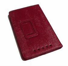 Red Faux Leather PU Flip Travel Carry Case Book Cover for Google Nexus 7