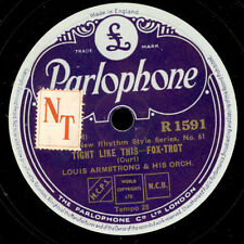 LOUIS ARMSTRONG & HIS ORCHESTRA Tight like this/Star dust   Schellackplatte X395