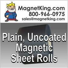 """Weatherproof Magnetic Sheeting .030 Plain Uncoated Magnet  12"""" x 5' Roll"""